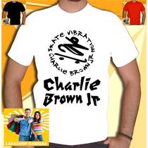 Camisa Charlie Brown Jr Camiseta Banda Skate Basica Branco
