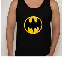 Camiseta Regata Desenho Simbolo Batman