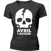 Camisa Avril Lavigne Skull - Caveira - Babylook