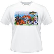 Camiseta Digimon Anime Desenho Frente Verso Camisa #02