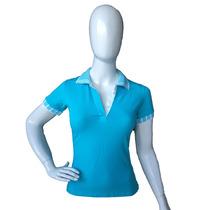 Camiseta Polo Feminina Acinturada Linda P Ao Gg Promoção