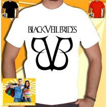Camiseta Banda Black Veil Brides Branca Bvb Rock Metal Punk