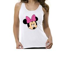 Camiseta Regata Desenho Minnie- Feminino