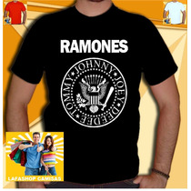 Camiseta Ramones Camisa Bon Jovi Nirvana Rappa Guns Roses Ac