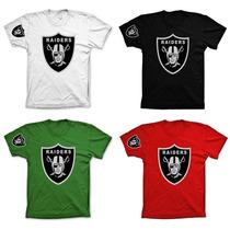 Camisa Camiseta Blusa Colorida Oakland Raiders 100 % Algodão