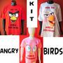 Kit Familia Aniversario Personalizado Angry Birds