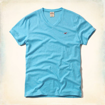 Camisa Hollister Seascape V Neck - Pronta Entrega - Original