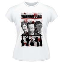 Baby Look The Walking Dead Frente Verso Camiseta Feminina