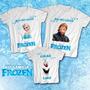 Kit Familia Aniversario Personalizado Frozen