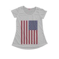 Blusinha Camiseta T-shirt Feminina Bandeira Eua / Usa
