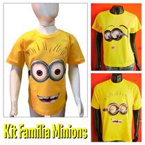 Kit Familia Aniversario Personalizado Minions