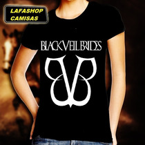 Camiseta Bvb Banda Black Veil Brides Baby Look Feminina Moca