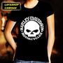 Camisa Harley Davidson Camiseta Baby Look Feminina Caveira