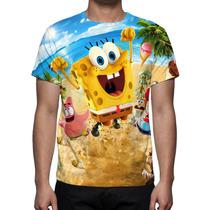 Camisa, Camiseta Bob Esponja Um Herói Fora D´água - Mod 02