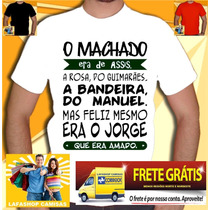 Camiseta Machado Assis Manoel Jorge Amado Camisa Normal Baby
