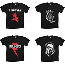 Lote Atacado Revenda 100 Camisetas Rock Hiphop -frete Grátis