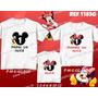 Kit Camisetas Personalizadas Aniversário Mickey Minnie Laço