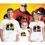 Camisetas Os Incríveis Personalizada Aniversario Kit Com 3