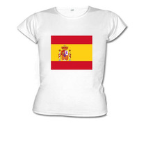 Camiseta Baby Look Bandeira Espanha