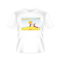 Camiseta O Pequeno Principe E Raposa Tradicional Ou Babylook