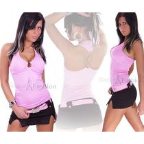 Blusas Ciganinha Feminina Croped Body Tule Camiseta Feminina