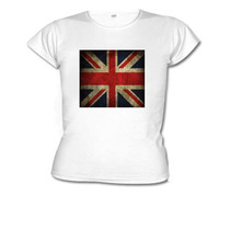 Camiseta Baby Look Bandeira Inglaterra