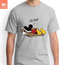Camisetas Mickey Oh Boy Disney Desenho Tv Filme Silk Digital