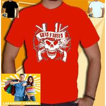 Camiseta Guns Roses Banda Rock Nirvana Axel Camisa Unissex