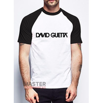 Camiseta Raglan David Guetta Dj Balada Eletro Personalizada