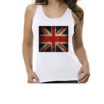 Camiseta Regata Bandeira Inglaterra - Feminino