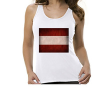 Camiseta Regata Bandeira Áustria - Feminino
