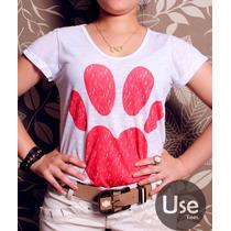 T-shirt Femininas - Impressão Digital Varias Estampas