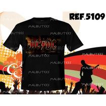 Camiseta Bandas Rock Acdc Iron Maiden Pink Floyd Metallica