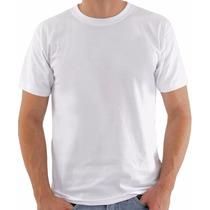 Camiseta Lisa Branca Fio 30.1 100% Algodão Penteado