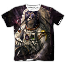 Acid Shop - Camiseta Psicodélica - Space Monkey