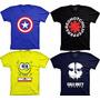 Kit 10 Camisetas Engraçadas Bandas Super Heróis Seriado Game