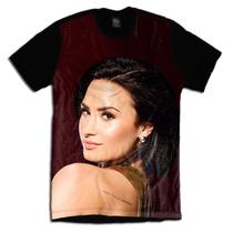 Camiseta Personalizada Face Rosto Demi Lovato