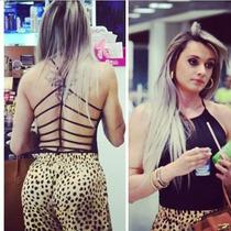 Body Tirinhas Juju Moda Cropped Top Colã