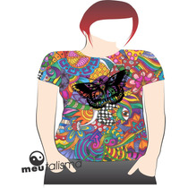 Camiseta, Baby Look, Regata Masculina Ou Feminina Butterfly