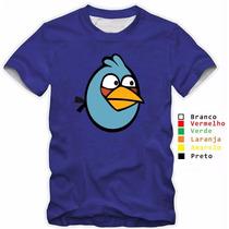 Camisa Infantil Angry Birds Jogo Passarinhos 100% Algodão