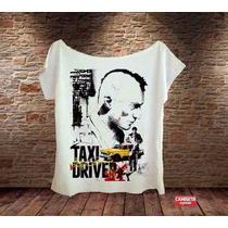 Blusa Feminina Gola Canoa Barata Taxi Driver De Niro Bacana