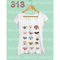 Camiseta Blusa Tshirt Feminina Estampa Cachorros Raças Pet