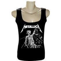 Camiseta Regata Feminina Rock Bandas Metallica