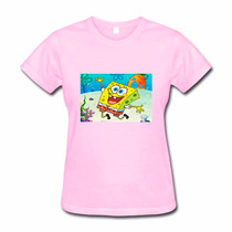 Camiseta Baby Look Feminina Bob Esponja