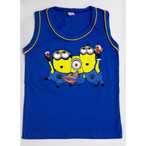 Camiseta Infantil Minions - Filme - Camisa - Regata - Blusa