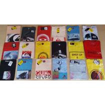 Kit 10 Camisetas E 10 Bermudas Elastano Quiksilver Hurley