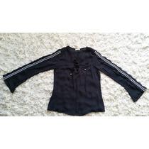 Bata Blusa Camisa Feminina Preta