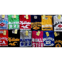 Camisetas Bordadas Hollister/ Abercrombie, Kit Revenda C 10!