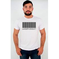 Camisetas - Código De Barra - Estampa - Personalizada