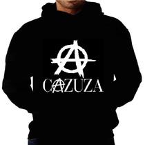 Blusa Moletom Cazuza Capuz Bolso Banda Cantor Moleton Rock